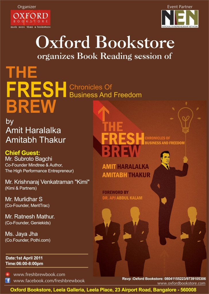 The Fresh Brew - Bangalore Launch - April 1, 2011
